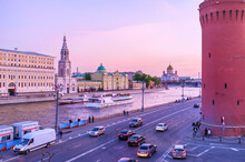The Evening At Moskva River In Moscow