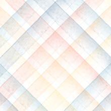 Watercolor Seamless Checkered Pattern