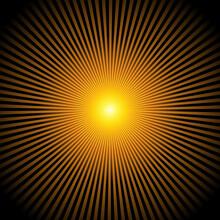 Yellow Orange Black Sunburst Effect Background