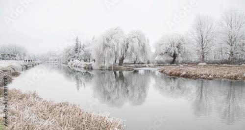 Canal de castilla in winter