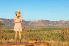 Vast Kimberley Landscape With Tourist In Felt Hat