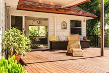 Wooden Deck On A Post War Home In Brisbane