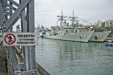 Navy Boats In Wharf