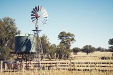 Old Windmill And Water Tank In Near Bendigo