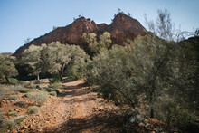 The Shape Of The Map Of Australia In The Landscape Of Arkaroola