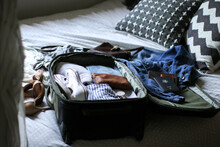 Detail Of A Bag Being Packed Ready For Travel