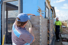 Bricklayer Working On New House