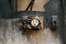Remains Of Burnt Out Electrical Plug In A Burnt Home