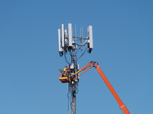 Maintenance On A Mobile Phone Tower