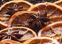 Christmas Backdrop, Traditional Caramelised Orange Slicers With Spice