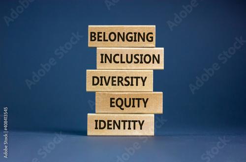 Obraz na plátně Equity, identity, diversity, inclusion, belonging symbol