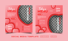 Flyer Or Social Media Post Themed Special Valentine Day Template