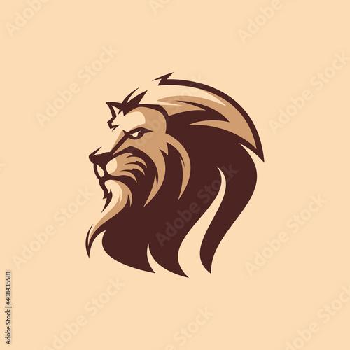Fototapety, obrazy: awesome lion logo design premium vector