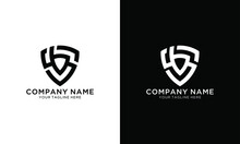 Initial Letter SB Shield Logo Template
