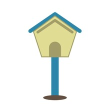Vector Of Bird House Design. Can Be Use For Icon Or Symbol