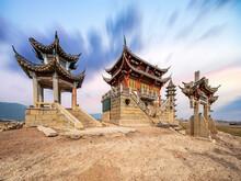 Chinese Ancient Architecture Bridge And Gazebo