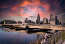 Dramatic Sunset Providence Rhode Island