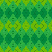 Green Argyle Seamless Vector Pattern