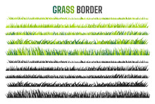 Grassland Border Vector Pattern Green Lawn In Spring The Concept Of Caring For The Global Ecosystem