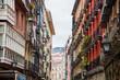 Colorful buildings in Bilbao