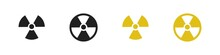 Radiation Sign Collection. Radiation Hazard Icon Set.