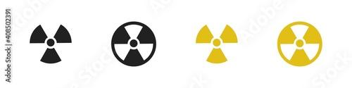 Fotografia Radiation sign collection. Radiation hazard icon set.