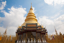 Wat Phra That Hariphunchai, Is A Buddhist Temple In Lamphun Province, Thailand