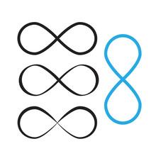 Mobius Loop Infinity Vector. Loop Icon Or Infinity Symbol