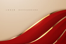 Abstract Red And Gold Soft Background
