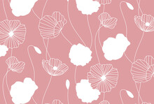 Vector Background With A Flower Pattern For Banners, Cards, Flyers, Social Media Wallpapers, Etc.