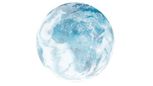 Planet Earth Frozen Cold Blue And White Globe Changing Climate