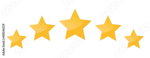 Five stars icon isolated on white background Fototapet