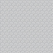 Abstract Gray Spirals Seamless Pattern Background