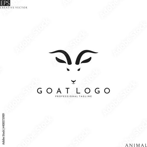 Carta da parati Goat head. Logo template