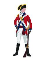 British Redcoat Soldier -- Revolutionary War Uniform