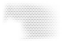 Black And White Vector Halftone Design Background. Pale Half Tone Digital Tex