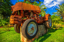 Scrap Car. Old Vehicles For Recycling