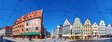 Moritzplatz Und Weberhaus, Augsburg, Bayern, Deutschland