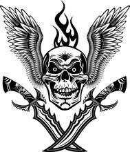 Skull Dagger Knife