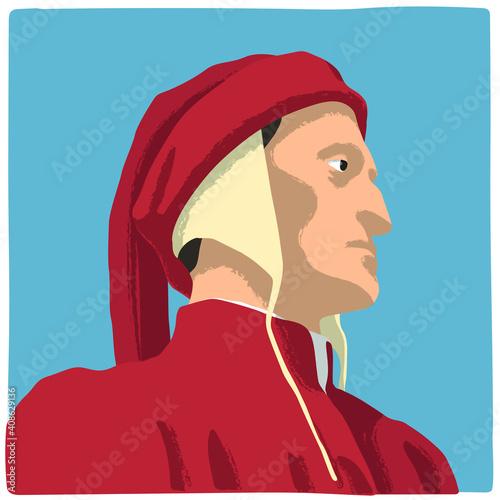 Papel de parede Dante Alighieri, famous Italian poet who wrote the Divine Comedy