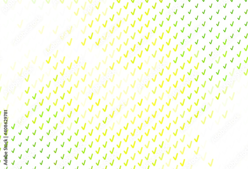 Fototapeta Light Green, Yellow vector pattern with curved lines.