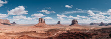 Panoramic View Of Monument Valley On A Sunny Day