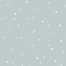 Simple Ornament. Seamless Monochrome Pattern. Glitter. Vector.