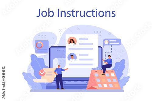 Job instruction concept. Personnel management and empolyee © artinspiring
