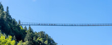 Panoramic View Of Cable Bridge Highline179 In Gemeinde Reutte Austria