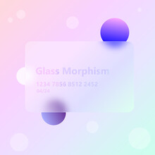 Illustration With The Effect Of Frosted Glass. New Trend.glassmorphism.vector Image