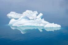 Detail Shot Of Icebergs Floating On Jokulsarlon Glacier Lagoon, Iceland