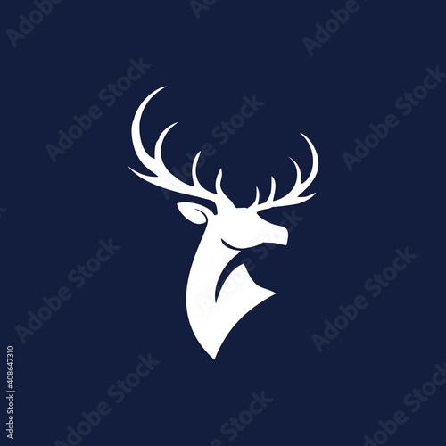 Valokuva deer head vector, deer head icon, vector art.