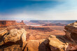 canvas print picture - Basin Overlook in the Dead Horse Point State Park, Moab Utah