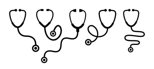 stetoskop zestaw ikon